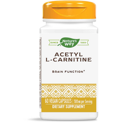 Acetyl L-Carnitine (Acetil L-Carnitina) 500mg 60cps NATURE'S  WAY