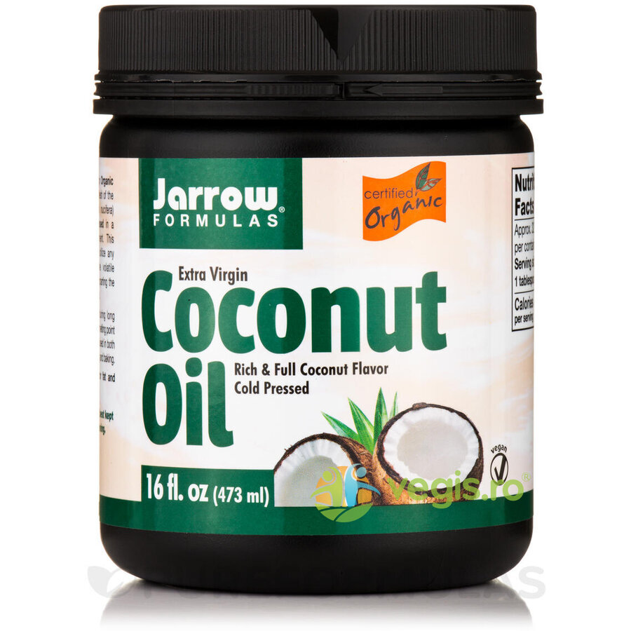 JARROW FORMULAS Coconut Oil Extra Virgin (Ulei de cocos) 473ml