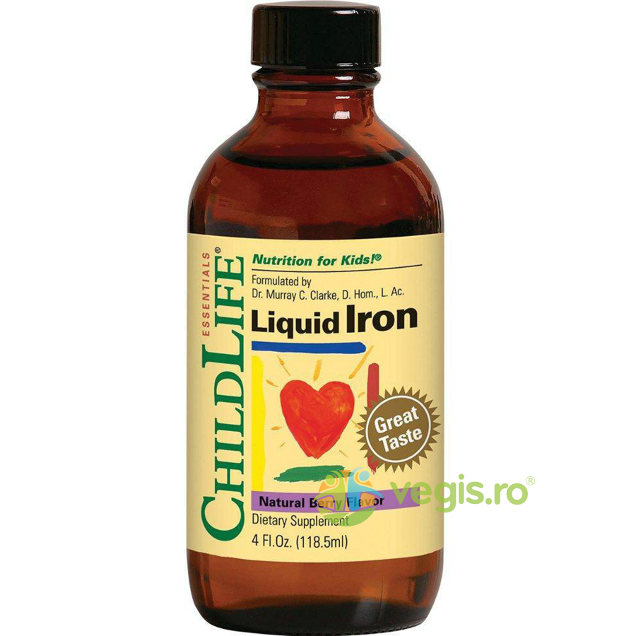 CHILD LIFE ESSENTIALS Liquid Iron 10mg(Fier lichid) 118.5ml