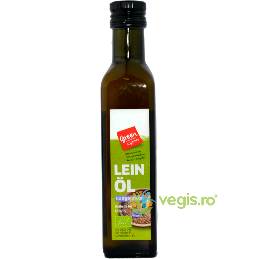 GREEN ORGANICS Ulei Din Seminte De In Bio 250ml