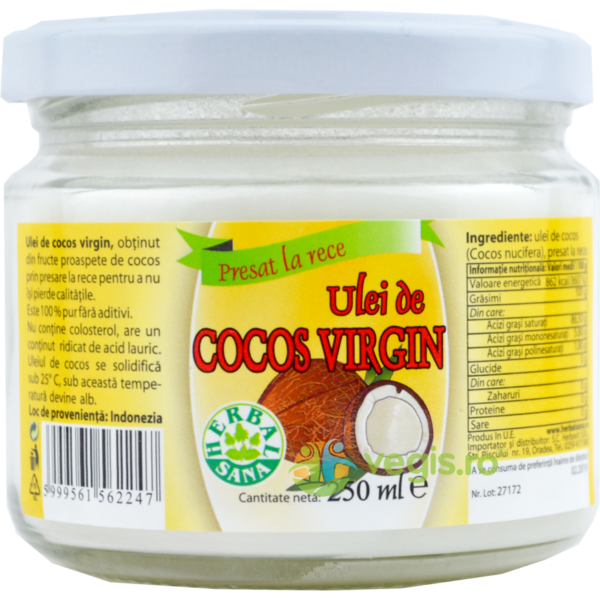 Ulei Cocos virgin 250ml thumbnail