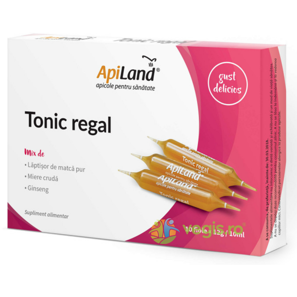 Tonic Regal 10 Fiole - Laptisor pur, miere si ginseng APILAND