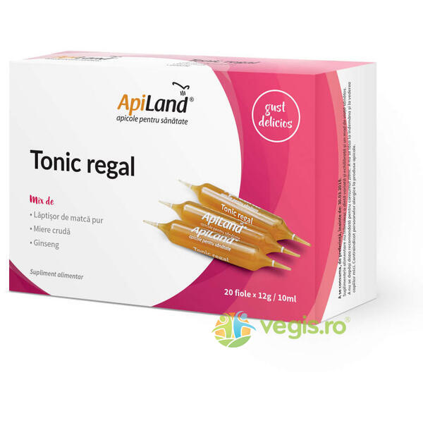 Tonic Regal 20 Fiole - Laptisor pur, miere si ginseng APILAND